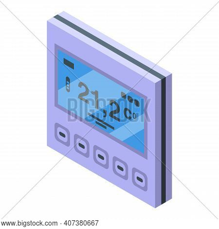 Home Heating Control Icon. Isometric Of Home Heating Control Vector Icon For Web Design Isolated On