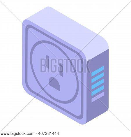 Smart Plug Icon. Isometric Of Smart Plug Vector Icon For Web Design Isolated On White Background