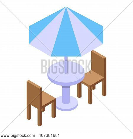 City Terrace Icon. Isometric Of City Terrace Vector Icon For Web Design Isolated On White Background