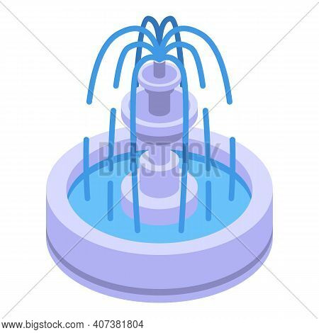 City Fountain Icon. Isometric Of City Fountain Vector Icon For Web Design Isolated On White Backgrou