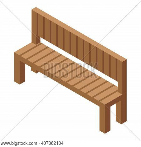 Park Bench Icon. Isometric Of Park Bench Vector Icon For Web Design Isolated On White Background