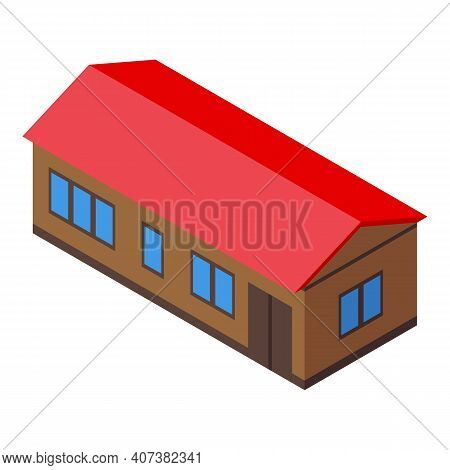 Urban Building Icon. Isometric Of Urban Building Vector Icon For Web Design Isolated On White Backgr