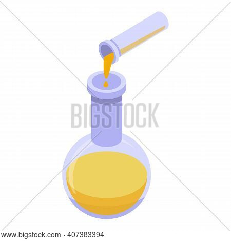 Bio Plastic Flask Icon. Isometric Of Bio Plastic Flask Vector Icon For Web Design Isolated On White