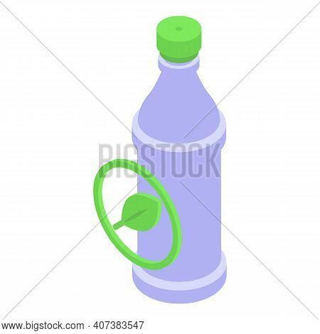 Biodegradable Bottle Icon. Isometric Of Biodegradable Bottle Vector Icon For Web Design Isolated On