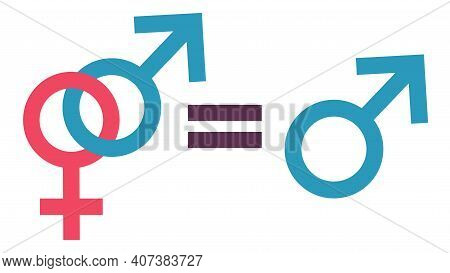 Equality Concept. Equality To Be One, Free Man And Traditional Relationship. Equal Rights Concept. G