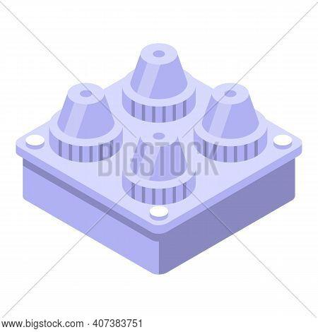 Zero Plastic Material Icon. Isometric Of Zero Plastic Material Vector Icon For Web Design Isolated O
