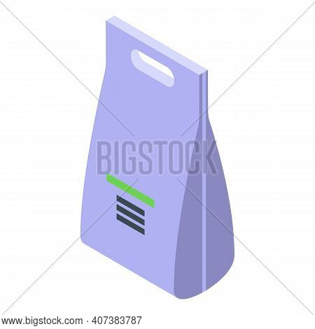 Biodegradable Plastic Pack Icon. Isometric Of Biodegradable Plastic Pack Vector Icon For Web Design