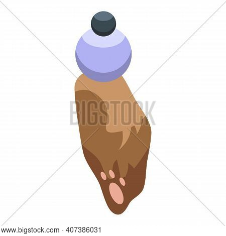 Lucky Rabbit Foot Icon. Isometric Of Lucky Rabbit Foot Vector Icon For Web Design Isolated On White