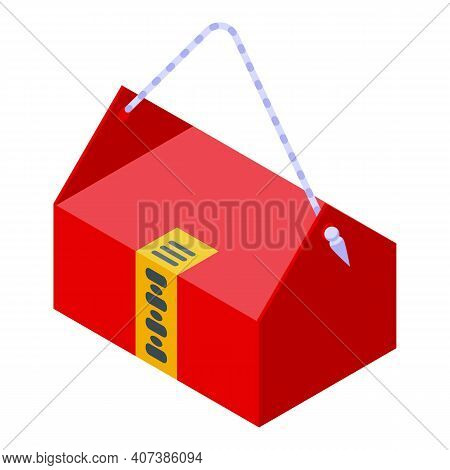 Lucky Bag Icon. Isometric Of Lucky Bag Vector Icon For Web Design Isolated On White Background