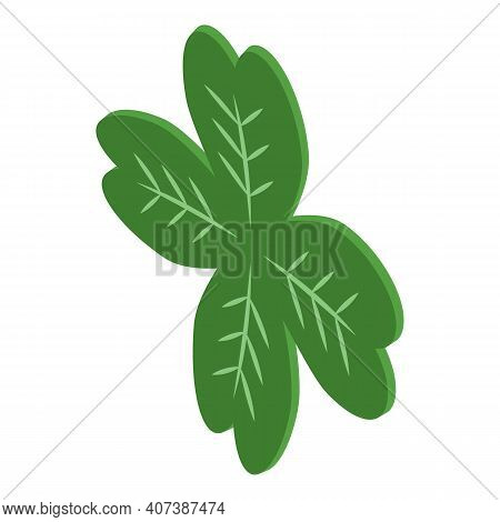 Four Leaf Clover Icon. Isometric Of Four Leaf Clover Vector Icon For Web Design Isolated On White Ba