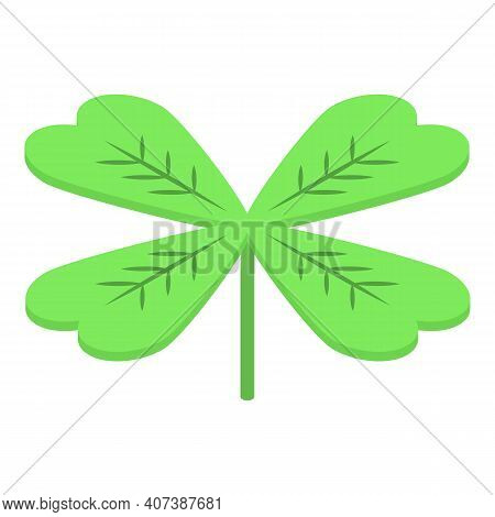 Botanical Clover Icon. Isometric Of Botanical Clover Vector Icon For Web Design Isolated On White Ba