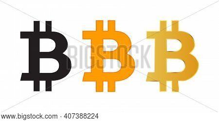 Bit Coin Icon Or Logo. Bitcoin Symbols Or Bitcoin Sign