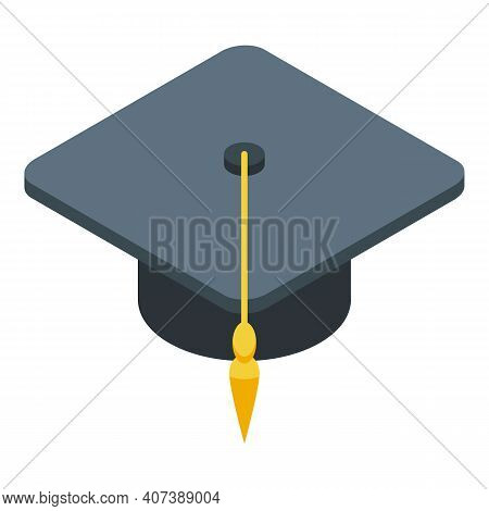 Degree Cap Icon. Isometric Of Degree Cap Vector Icon For Web Design Isolated On White Background