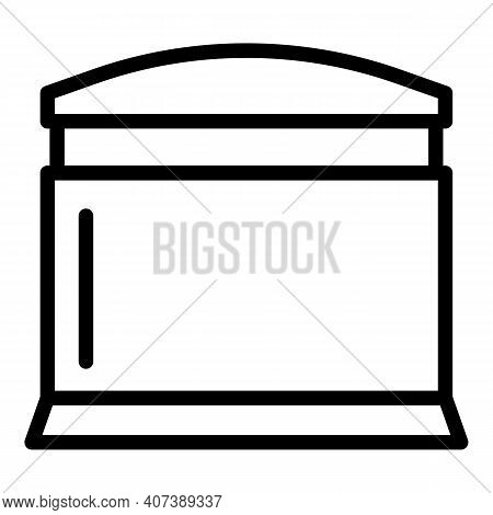 Coffee Machine Capsule Icon. Outline Coffee Machine Capsule Vector Icon For Web Design Isolated On W