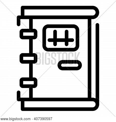 Jail Door Icon. Outline Jail Door Vector Icon For Web Design Isolated On White Background