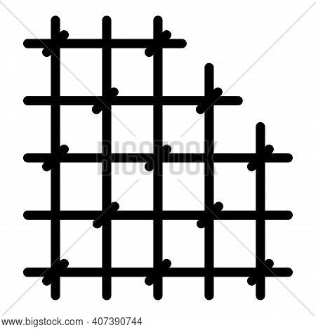 Prison Bars Icon. Outline Prison Bars Vector Icon For Web Design Isolated On White Background