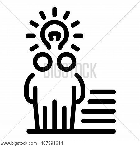 Authority Influence Icon. Outline Authority Influence Vector Icon For Web Design Isolated On White B