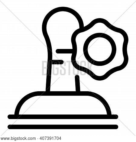 Stamp Authority Icon. Outline Stamp Authority Vector Icon For Web Design Isolated On White Backgroun
