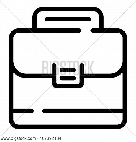 Authority Suitcase Icon. Outline Authority Suitcase Vector Icon For Web Design Isolated On White Bac