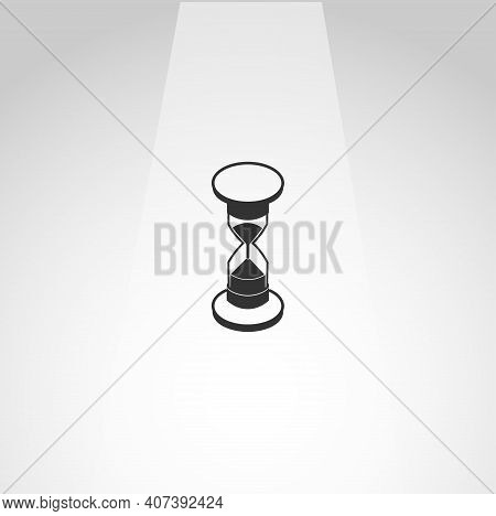 Hourglass Vector Icon, Hourglass Sandglass Simple Isolated Icon