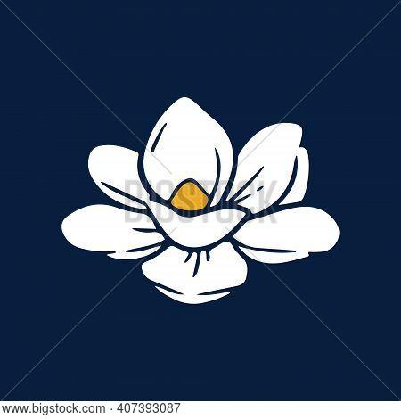 Mississippi Flag Flower In Original Color And Proportion