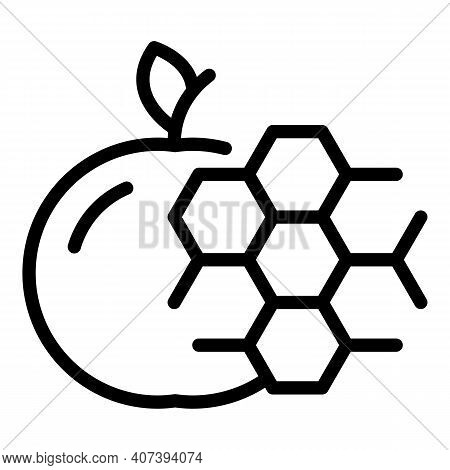Apple Gmo Icon. Outline Apple Gmo Vector Icon For Web Design Isolated On White Background