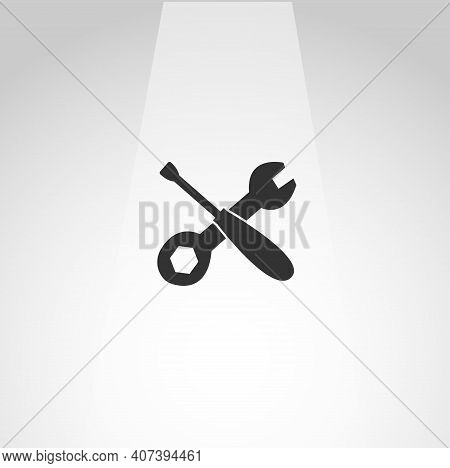Screwdriver And Wrench Vector Icon, Screwdriver And Wrench Maintenance Simple Isolated Icon
