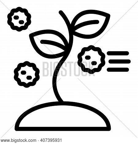 Allergen Virus Icon. Outline Allergen Virus Vector Icon For Web Design Isolated On White Background