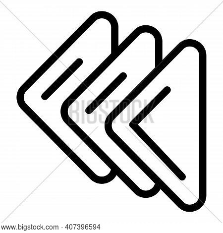 Handkerchief Icon. Outline Handkerchief Vector Icon For Web Design Isolated On White Background