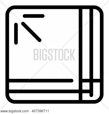 Kitchen Handkerchief Icon. Outline Kitchen Handkerchief Vector Icon For Web Design Isolated On White