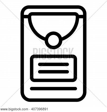 Pack Handkerchief Icon. Outline Pack Handkerchief Vector Icon For Web Design Isolated On White Backg
