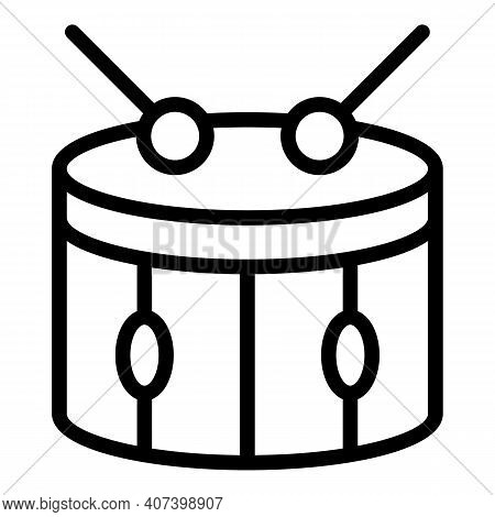 Beat Drum Icon. Outline Beat Drum Vector Icon For Web Design Isolated On White Background