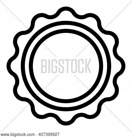 Folk Tambourine Icon. Outline Folk Tambourine Vector Icon For Web Design Isolated On White Backgroun