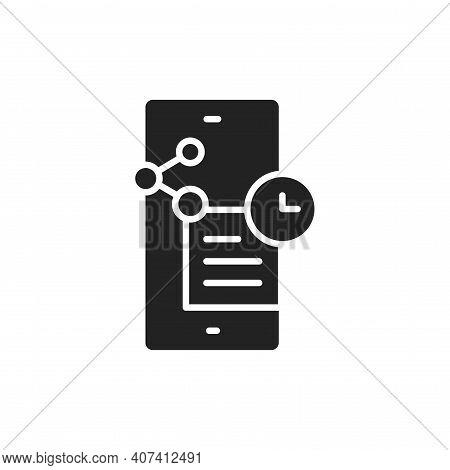 Widgets Glyph Black Icon. Smm Promotion. Outline Pictogram