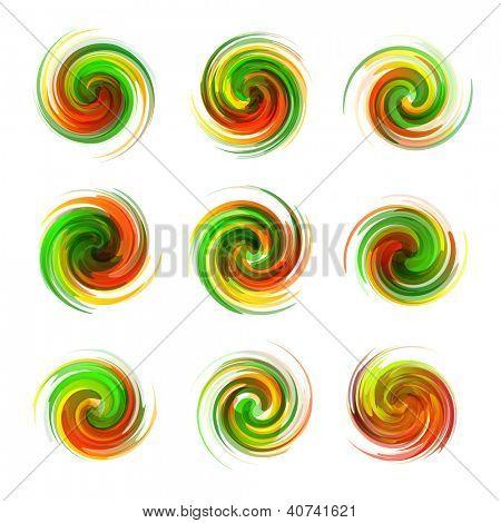Swirl elementsA??A?Afor design. Vector illustration. poster