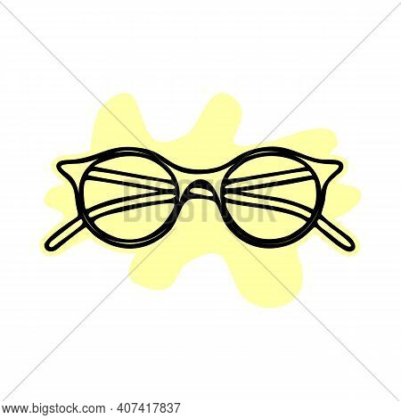 Isolated Object Of Glasses And Frame Logo. Collection Of Glasses And Accessory Vector Icon For Stock