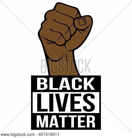 Black Lives Matter - A Cartoon Illustration Of A Black Lives Matter Concept.
