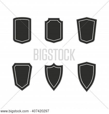 Protect Guard Shield. Safeguard Simple Sign. Security Icon. Safety Label. Vector Illustration