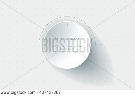 Abstract Background. Volume Control On A White Background. The Background Can Be Used As A Fond For