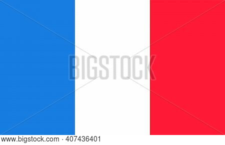 French Flag Vector Isolated On Transparent Background. It Is Also Known In France As The Drapeau Fra