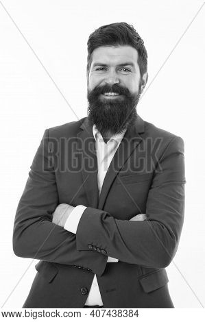 Happy Bachelor Day. Happy Bachelor Isolated On White. Single Man In Formal Style. Bachelor Day. Cele