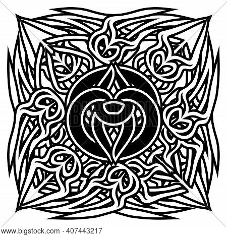 Abstract Symbol In Ancient Celtic Style, Tattoo Or Print Design