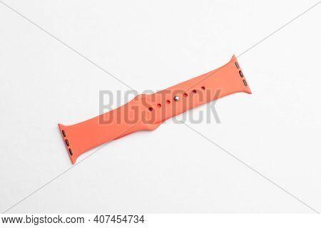 Orange Silicone Watch Strap Style Clock Apple