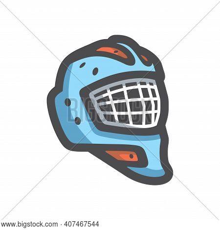 Goalie Helmet Hockey Vector Icon Cartoon Illustration.