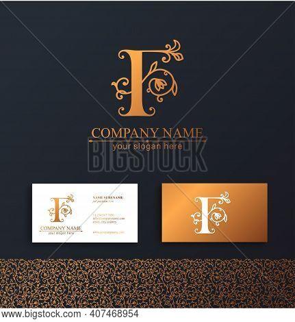 Premium Vector F Logo. Monnogram, Lettering. Personal Logo Or Sign For Branding An Elite Company. Ve