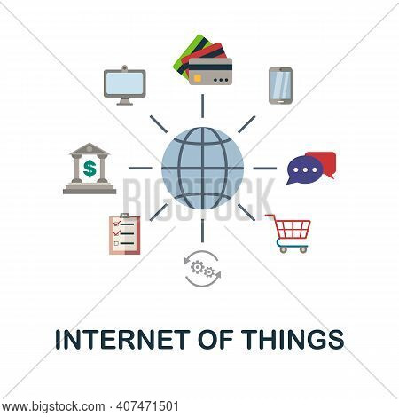 Internet Of Things Flat Icon. Color Simple Element From Fintech Collection. Creative Internet Of Thi