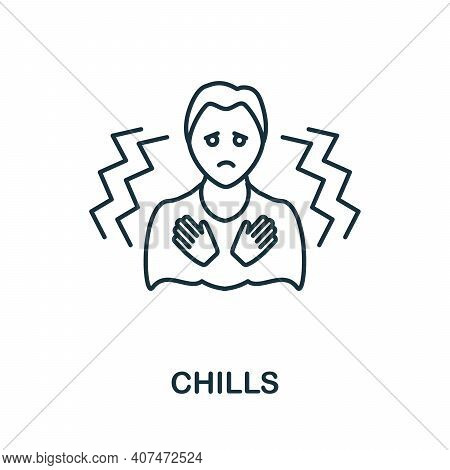Chills Icon. Simple Illustration From Coronavirus Collection. Creative Chills Icon For Web Design, T