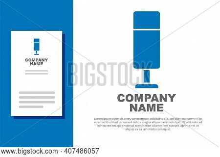 Blue Punching Bag Icon Isolated On White Background. Logo Design Template Element. Vector