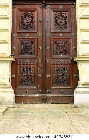Detail of a door of the Residenz, Munich, Germany