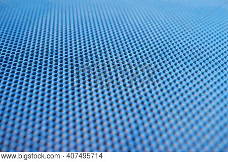Blue Non-slip Mat For Pools And Saunas. Special Anti-slip Coatings Concept